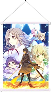 Sword Art Online SAO Wall Scroll Poster Fabric Hanging Decor SAO Animal Ears Asuna Elf Kirito Llisbeth Pointy Ears Silica