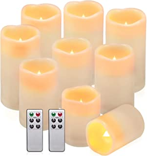 black battery operated candles