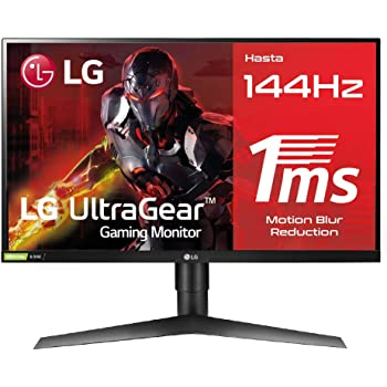 "LG 27GL650F-B - Monitor Gaming FHD de 69 cm (27"") con Panel IPS (1920 x 1080 píxeles, 16:9, 1 ms con MBR, 144Hz, FreeSync 2, 400 cd/m², 1000:1, sRGB >99%, DP x1, HDMI x2), Color Negro"