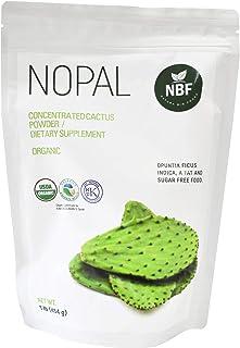 NBF 100% Cactus Nopal Powder Organic 454g / 1 Lb Natural Fiber Prickly Pear 0% Sugar Keto Diet Digestive Health Gluten-Fre...