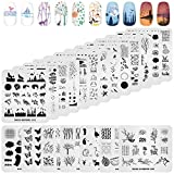 KADS 20pcs Nail Stamp Plates set Nails Art Stamping Plates Leaves Flowers Animal Nail plate Template Image Plate
