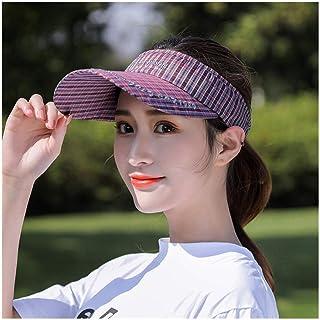 GJPSXTY Transpirable y cómodo Sombrero de Copa vacío Protector Solar de Viaje de Verano sin Sombrero de Sol Superior Pato lengüeta Sombrero de Sol Deportes al Aire Libre celosía Gorra de béisbol