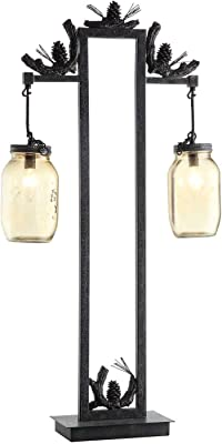 Crestview Collection CVAER741 Fire Catcher Table Lamp Lighting, Brown