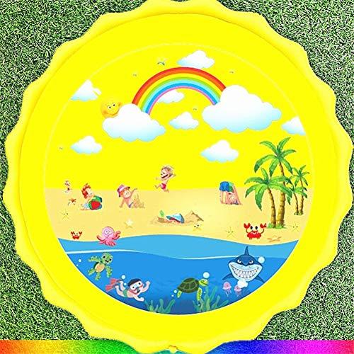 Hbao Verano PVC niños juegan Fuente de Agua Almohadilla de Juego Alfombra de Playa césped rociador Inflable Almohadilla de Juego Juguetes para bañera al Aire Libre (Color : A)