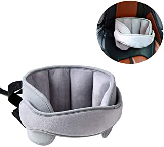 StoHua Baby Car Seat Head Support Band - Child Neck Relief Safe Sleep Positioner Toddler Car Seat Sleep Nap Aid Holder Band, Grey
