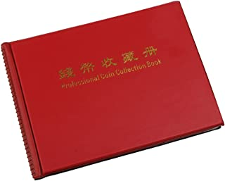 Generic Penny Money Pocket Storage Coin Album Book 240 Holders Collection Red-13009868MG