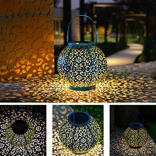 SA&LAM Solar Laterne Light - Outdoor Hanging Garden Lights Metalllampe Für Terrasse, Draußen Oder Tisch