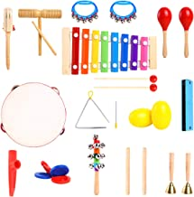 Ohuhu Music Instruments for Kids Music Toys 20 Pcs, Kids Percussion Musical Instrument Set