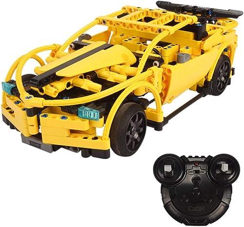 WXIAGoldNG Modell Kits Fernbedienung Car,1 14 2.4GHz Baustellen-Sets, BAU Ihres eigenen Radio gesteuerten Autos, Puzzle Assembled Building Blocks für Kinder 8-14 Jahre alt
