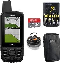 Garmin GPSMAP 66st TOPO U.S. Canada 100K Maps Multi-GNSS Support &32GB Memory Card+More