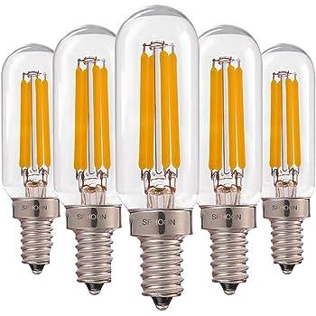 E12 Base 1 110-120VAC Bulbright 6PACK LED Filament Bulb Candelabra T20 1W LED Filament Bulb LED Tubular Bulb Night Light 10W Equivalent Warm White 2700K