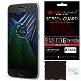 TECHGEAR [3 Pack] Protection d'Écran pour Moto G5 Plus, Film de Protection Ultra Clair avec Chiffon...