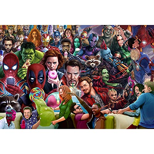 1000 Piece Jigsaw Puzzle for Adults-Marvel Avengers Super Heroes-Every Piece is Unique