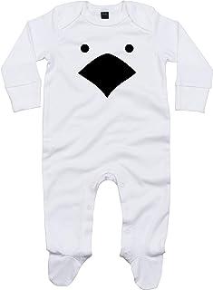 Kleckerliese Baby Schlafanzug Strampler Schlafstrampler Sprüche Jungen Mädchen Motiv Tiere Küken Huhn Hühnchen