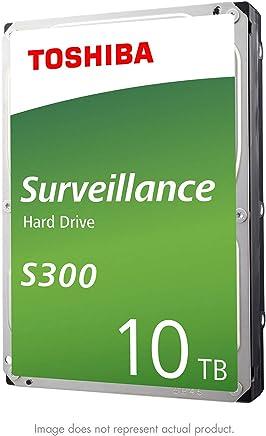 "Toshiba S300 10TB Surveillance 3.5"" Internal Hard Drive – SATA 6 Gb/s 7200 RPM 256MB Cache (HDWT31AUZSVAR)"