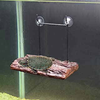 Large Turtle Floating Dock, Turtle Accessories for Aquarium Decoration Turtle Ramp Floating Platform with Suction Cups for Bask Terrace Climb