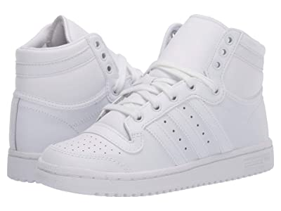 adidas Originals Kids Top Ten Hi (Big Kid) (White/White) Kids Shoes