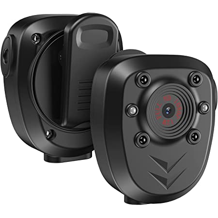 64GB Body Camera Police Civilians Patrol Portable Body Mounted Camcorder 1080P Night Vision 6 Hours Battery Life Audio Recording Wearable Video Recorder for Law Enforcement Indoor Outdoor Security
