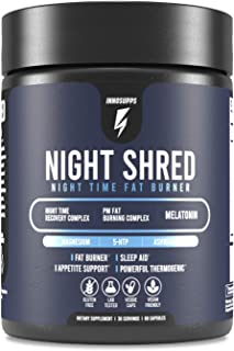 Inno Supps Night Shred - Night Time Fat Burner and Natural Sleep Support - Appetite Suppressant and Weight Loss Support (6...