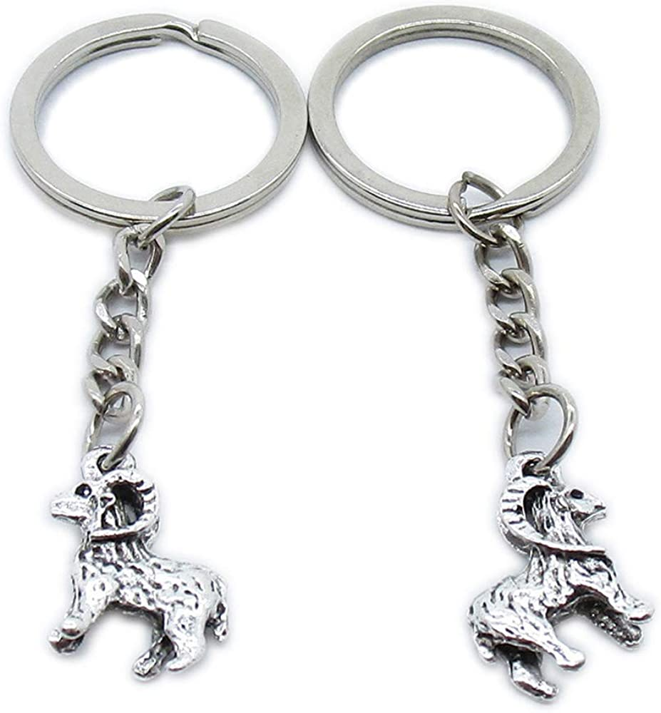 Antique Silver El Paso Mall Super sale Plated Keyrings Keychains Lamb Sheep K MM3I7 Goat