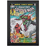 Marvel Comics Spider-Man and The Green Goblin's Last Stand Comic Book Cover, Replica of Classic 1973 July #122 Cover, 19' x 13' Textured Print, Framed Wall Art Decor