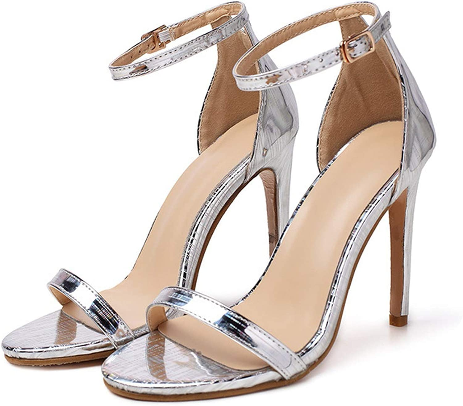 Women Pumps High Heels Silver Sexy High Heels shoes Buckle Staple Luxury Wedding Party shoes