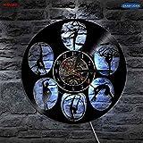 xcvbxcvb Gimnasia Deportes Vinilo lámpara de Pared Personalidad Reloj Creativo Gran Regalo Sala de Estar Fresca decoración de Interiores