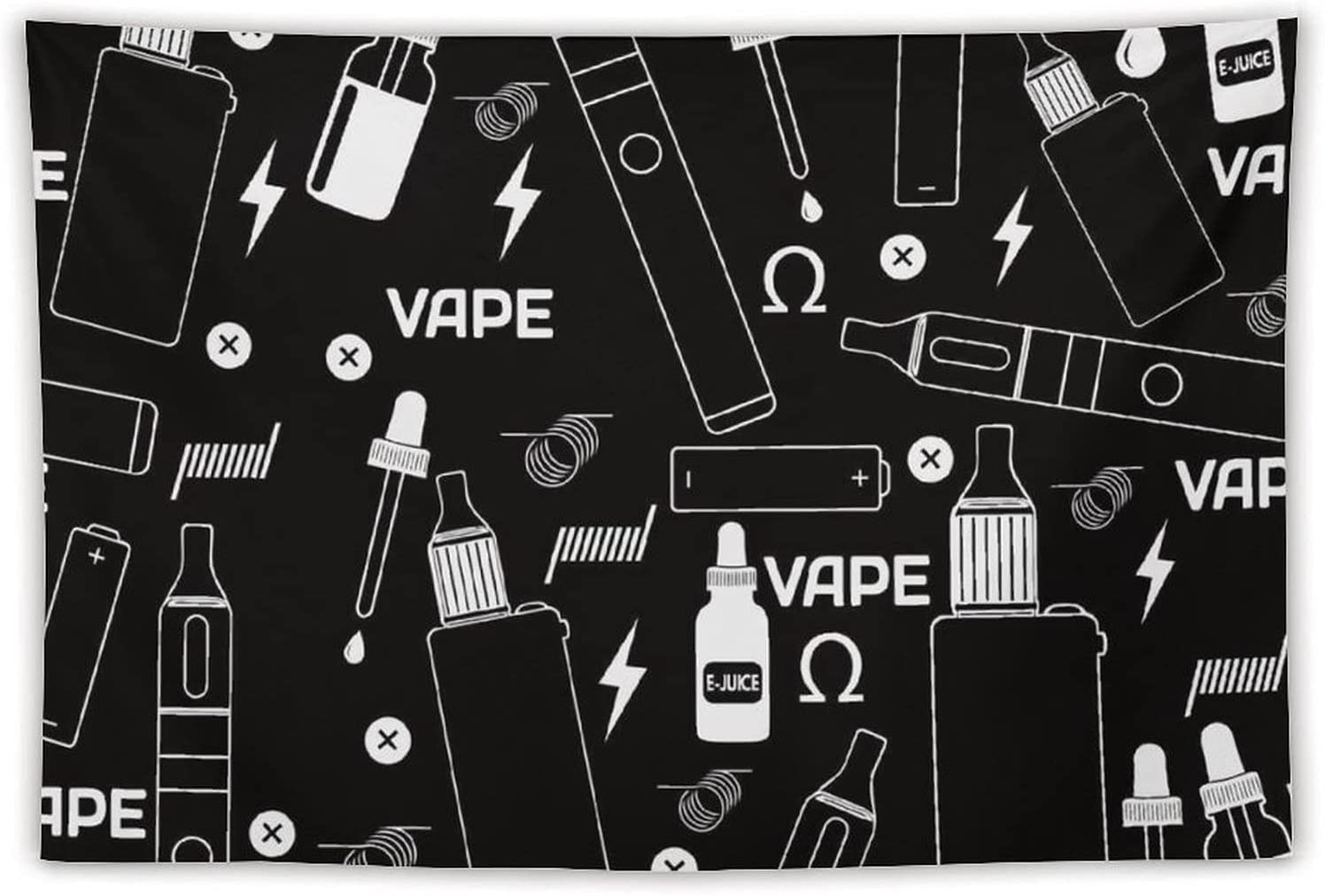 Manta Tapiz Para Colgar En Pared,Vape Shop o tienda de cigarrillos electrónicos sobre fondo negro, Estera Picnic Decoración Sala Estar,40x60