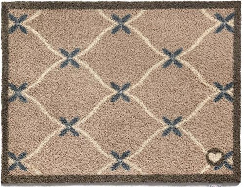 Hug Rug Kitchen Tile -Taupe Home 14 Dirt Trapper Washable Door Mat 65 x 85cm - Taupe Home 14 by Cotswold Mat Co Ltd