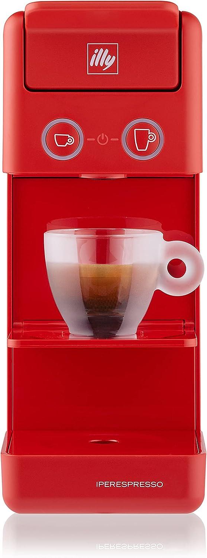 illy Caffè - Cafetera de cápsulas Iperespresso Y3.3, color rojo