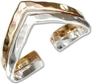 California Toe Rings Women's 14K Gold Filled Chevron V Adjustable Toe Ring