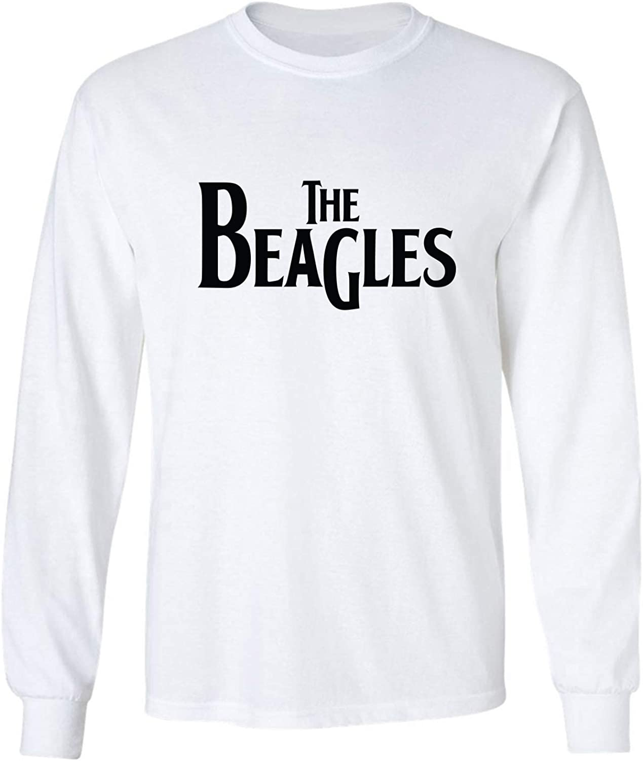 The Beagles Adult Long Sleeve T-Shirt in White - XXXX-Large