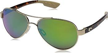 Costa Del Mar Loreto Blue Mirror 580P Aviator Sunglasses