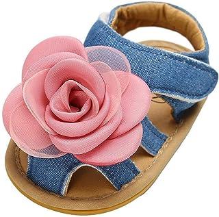 70f03228f2beb1 Jimmackey Ragazze Bambina Scarpe Primi Passi Bambino Sandali Punta Chiusa  Scarpette Estate Morbidi Sandalo Rosa cuty