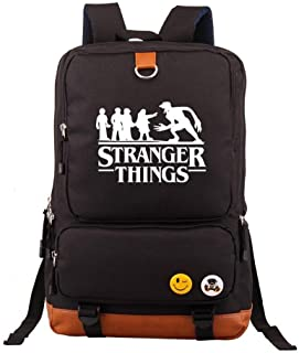 Black-A Teen Girls Kids Eleven Cute 3D Large School Bags Boys Women Upside Down Laptop Backpacks Men Travel Rucksacks Bookbags Adult Shoulder Bags with USB Charging Port Stranger Things Backpack