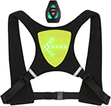 Lixada USB Rechargeable Reflective Vest Backpack with LED Turn Signal Light Remote Control Outdoor Sport Safety Bag Gear f...