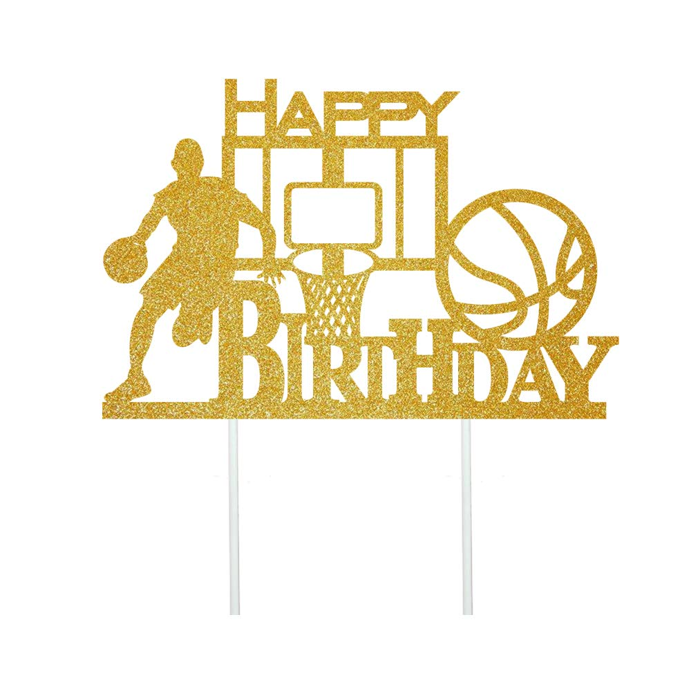 Anxdh Many popular brands Golden Flash Happy Long-awaited Birthday Cake Topper Ca Party
