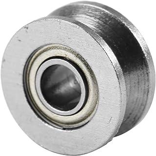 10pcs Rullo della puleggia della scanalatura profonda Puleggia del cuscinetto passivo di plastica della ruota della puleggia del V-tipo del metallo per il sistema di movimento lineare