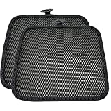 Carrotez 2 Pack Double Breathable 3D Air Mesh Car Seat Cool Cushion Cover pad for Cars Front Seats Cool Chair seat, car seat Pads, Home Office Chair, Wheelchair, 17.75' x 17.75' (Black)