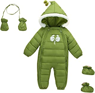 Baby Toddler 3 Piece All in One Snowsuit Romper Snowsuit Zipper Padding Onesie