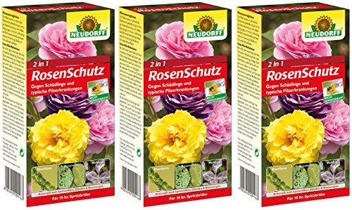 3 x Neudorff 2 in1 RosenSchutz Kombipack, Spruzit Schädlingsfrei und Fungisan Rosen-Pilzfrei