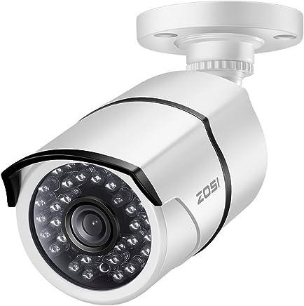 ZOSI 1.0MP HD 720p 1280TVL Outdoor/Indoor Security Camera (Hybrid 4-in-1 HD-CVI/TVI/AHD/960H Analog CVBS),36PCS LEDs,100ft IR Night Vision,Weatherproof Surveillance CCTV Bullet Camera