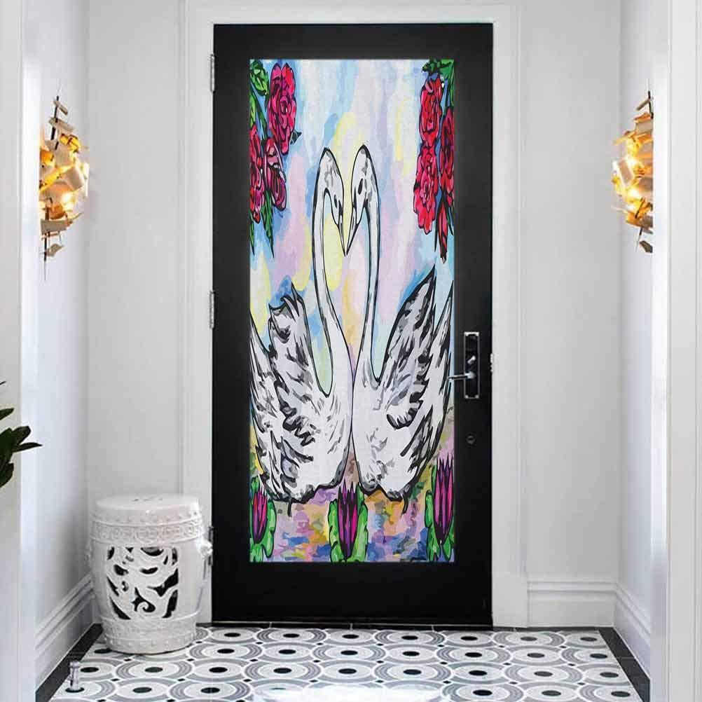 3D DIY Max 60% OFF Door Sticker Wall Decals Swan Mural depot Wallpaper Grunge Sty
