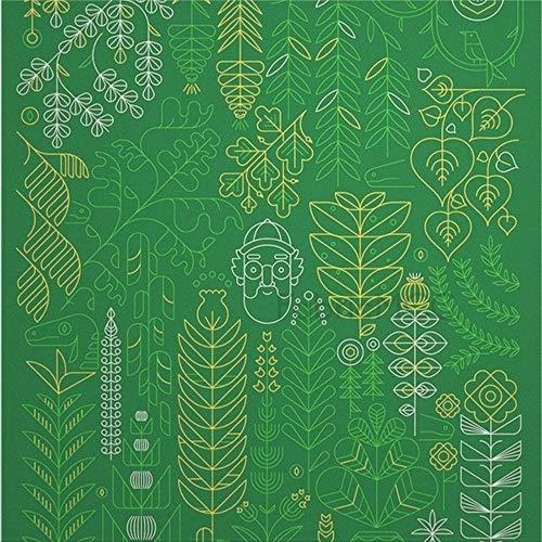 daoyiqi Juego de pegatinas decorativas para azulejos, diseño de hojas y plantas vasculares, 20,32 x 20,32 cm, adhesivo de vinilo para suelo, 12 unidades, resistente al agua, para decoración del hogar