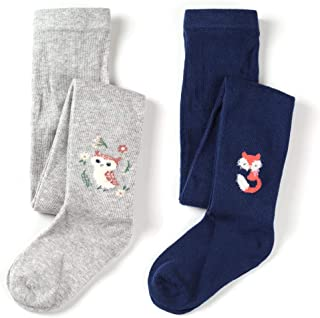 Girls Cotton Fashion Tight lovely Fox & Owl Pattern Pack of 2 …