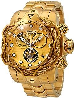 Invicta Reserve Mens Gold-Tone Chronograph Watch 27702