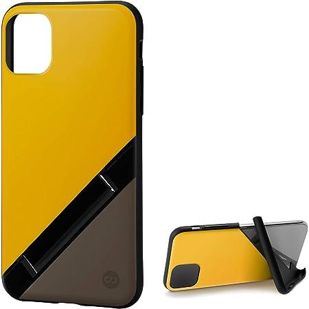 カンピーノ campino iPhone 11 ケース OLE stand スタンド機能 耐衝撃 スリム 動画 Qi ワイヤレス充電対応 バナナ イエロー × ココア ブラウン Bi-Color 黄色 茶色