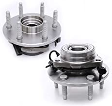 FKG 515036 Front Wheel Bearing Hub Assembly (4WD ONLY) for Chevy Avalanche Express 1500 Tahoe Silverado 1500, GMC Yukon Sierra Savana 1500, Cadillac Escalade 6 Lugs W/ABS 4WD Only, Set of 2