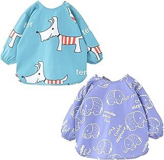 e24234519 2 PCS Baberos de Bebé a Prueba de Agua para Bebés Recién Nacidos y Niños  Pequeños
