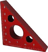 Hoekgelichter, 45-graden Houtbewerking Driehoeksgelichter, Aluminiumlegering Driehoeker Met Lees Duidelijk, Meetinstrument...